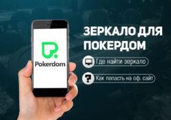 актуальное зеркало ПокерДом
